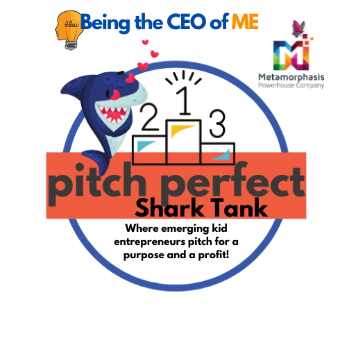 Being The CEO of ME Pitch Perfect Shark Tank logo