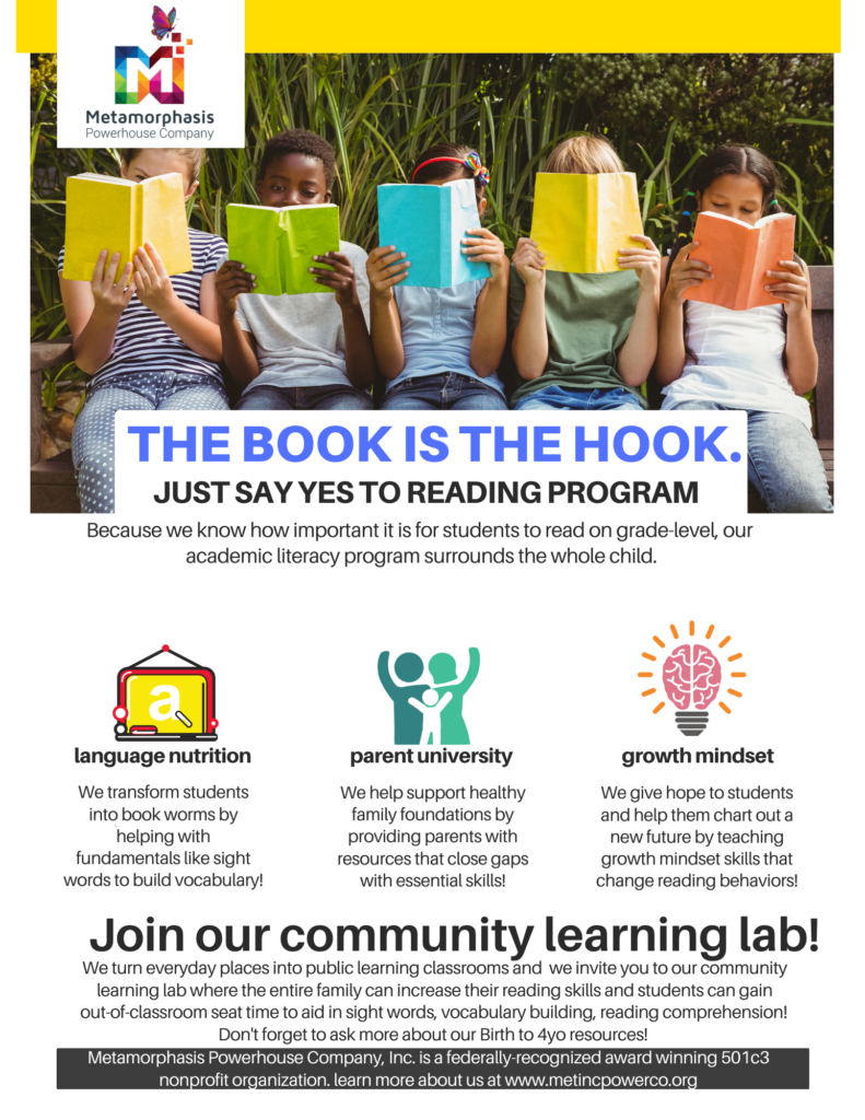 MetIncPowerCo_Just Say YES to Reading Program_Community Learning Lab Fact Sheet_COVID Response Pg 1